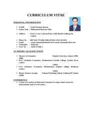 Assad 1CURRICULUM VITAE.doc
