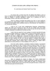 A Doutrina da Igreja sobre o Diálogo Inter-Religioso - Padre Joao Batista de Almeida Prado Ferraz Costa.pdf